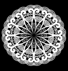 lace round greek mandala pattern vector image