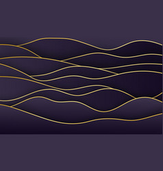 luxury paper cut wavy background 3d abstract vector image