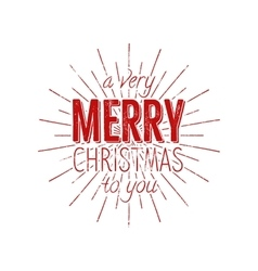Merry Christmas to you typography label Retro vector image