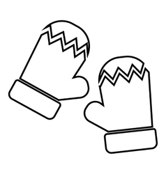 Mittens icon outline style vector