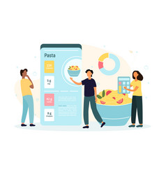 Mobile application for calories counting vector