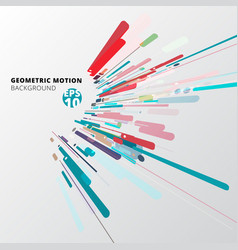 Modern style abstract geometric with composition vector