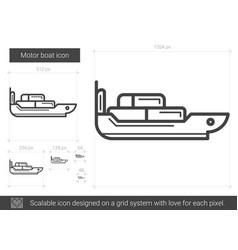 motor boat line icon vector image