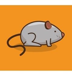 Mouse pet shop icon vector