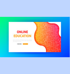 online education landing page vector image