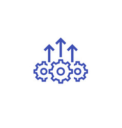 Operational excellence efficient operation icon vector