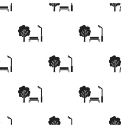 Park icon in black style isolated on white vector image
