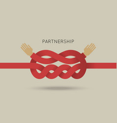 Partnership concept in flat vector