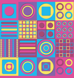 Pastel pop art modern shape background design vector