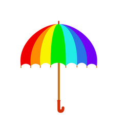 rainbow umbrella icon colorful umbrella isolated vector image