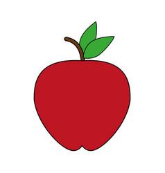 Red apple design vector