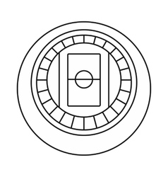 Round stadium top view icon outline style vector image