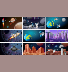 scenes space backgrounds vector image