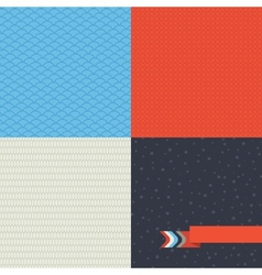 Seamless set of retro pattern vector image
