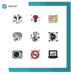 Set 9 modern ui icons symbols signs for love vector