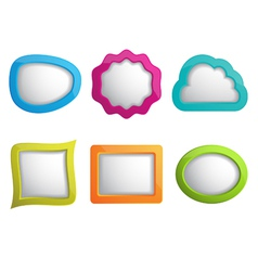 set of 3d web frames vector image
