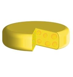 Slices of cheese lika a circle vector