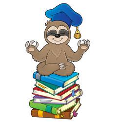 Sloth teacher theme image 3 vector