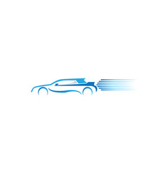 Speed car racing and auto rental for logo design vector