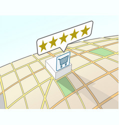 Supermarket top user rating vector