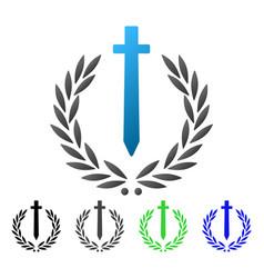 Sword honor embleme flat gradient icon vector