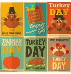 Thanksgiving Day Retro Posters vector image