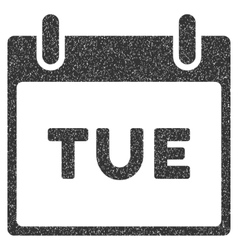 Tuesday Calendar Page Grainy Texture Icon vector image