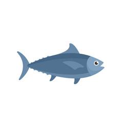 Tuna fish icon flat style vector