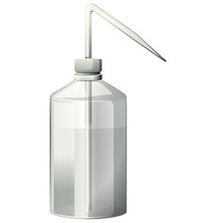 Wash bottle with water inside vector image