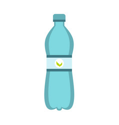 blue bottle of water icon flat style vector image