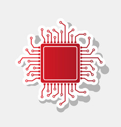 cpu microprocessor new year vector image