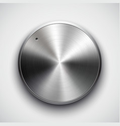 metal volume button vector image