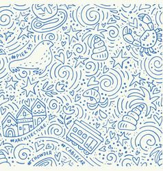 san fransisco pattern vector image vector image