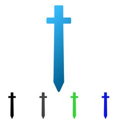symbolic sword flat gradient icon vector image
