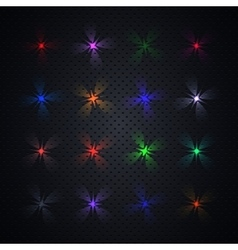 Bright light effects vector
