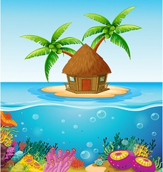 Hut on Island vector image vector image