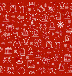 merry christmas party celebration seamless pattern vector image vector image
