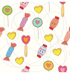 sweets seamless pattern vector image vector image