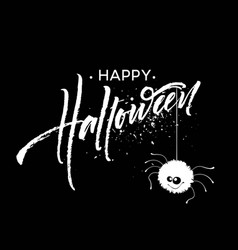 happy halloween lettering holiday calligraphy for vector image vector image