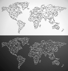 Low Poly World Map Outline vector image vector image