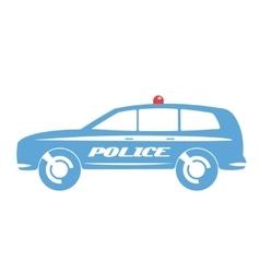 Police car flat design vector image