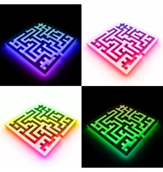 Set labyrinth vector image