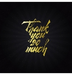 Thank you so much - typographic calligraphic vector image