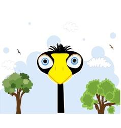 cartoon black bird vector image vector image