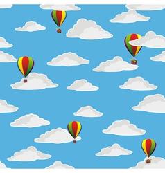 retro balloons flying vector image vector image