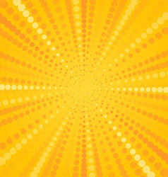 Yellow Halftone Star vector image
