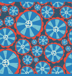 1970s hippie flowers flower power seamless vector image