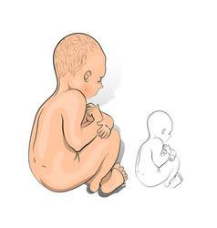 A newborn baby vector
