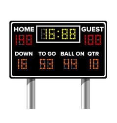 american football scoreboard sport game score vector image