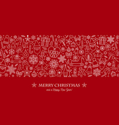 beautiful xmas pattern with ornaments christmas vector image